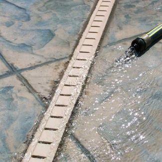 Stegmeier Deck Drain Tan 16 10 Lengths Deck Drain Swimming Pool Kits Rectangle Swimming Pools