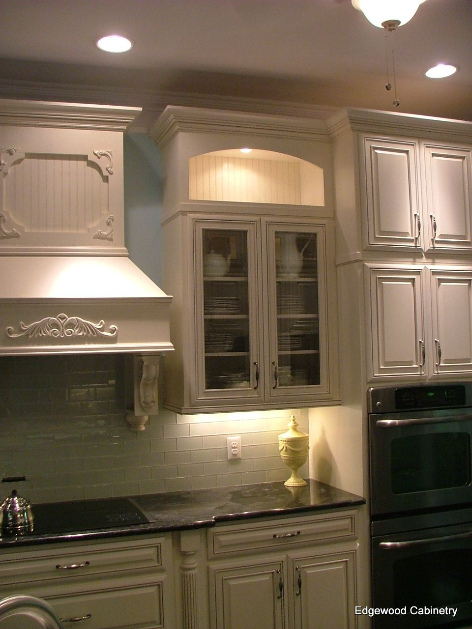 Best Painted Maple Cabinets With A Soft Gray Glaze Kitchen 400 x 300