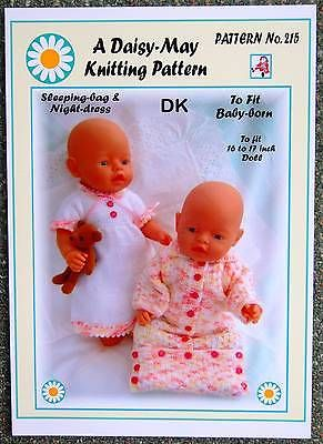 "DOLLS KNITTING PATTERN  for  Annabell  No 236 by Val Young 17/""-19/"" doll"