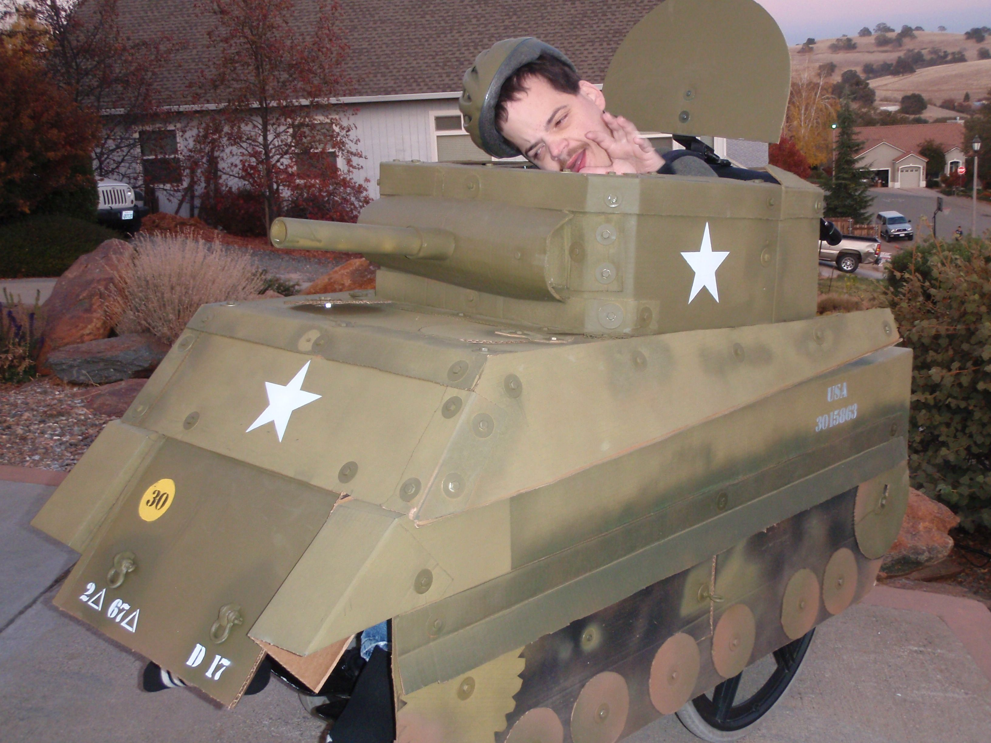 Coolest Army Tank Costume | Army, Costumes and Halloween costumes
