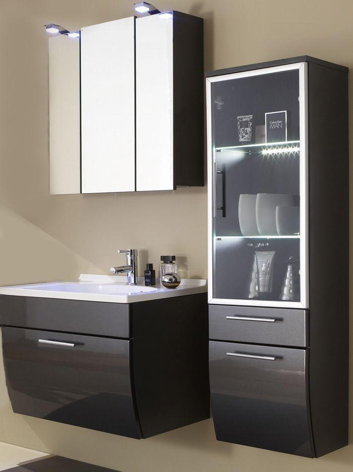 sam badm bel set 3g anthrazit beckenauswahl santana badm bel bad badm bel und badezimmer. Black Bedroom Furniture Sets. Home Design Ideas