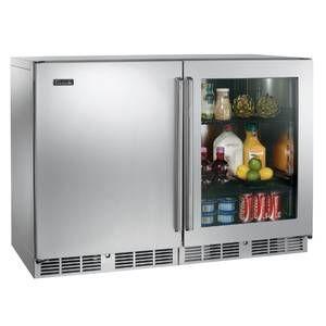 Perlick Residential 48 Combo Solid Door Freezer U0026 Glass Door Refrigerator    PR HP48FR