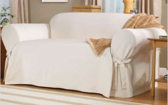 Cotton Duck Chair Slipcover Sofa