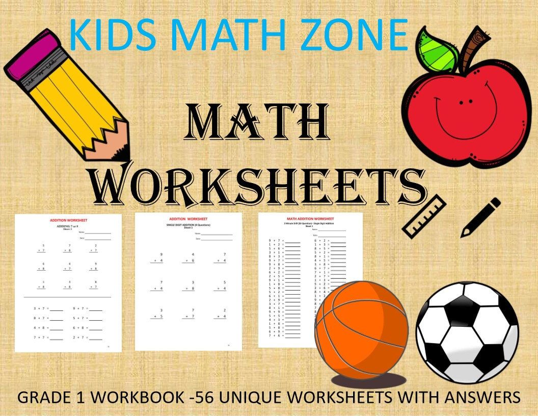 Grade 1 Math Addition Worksheets 56 Worksheets With