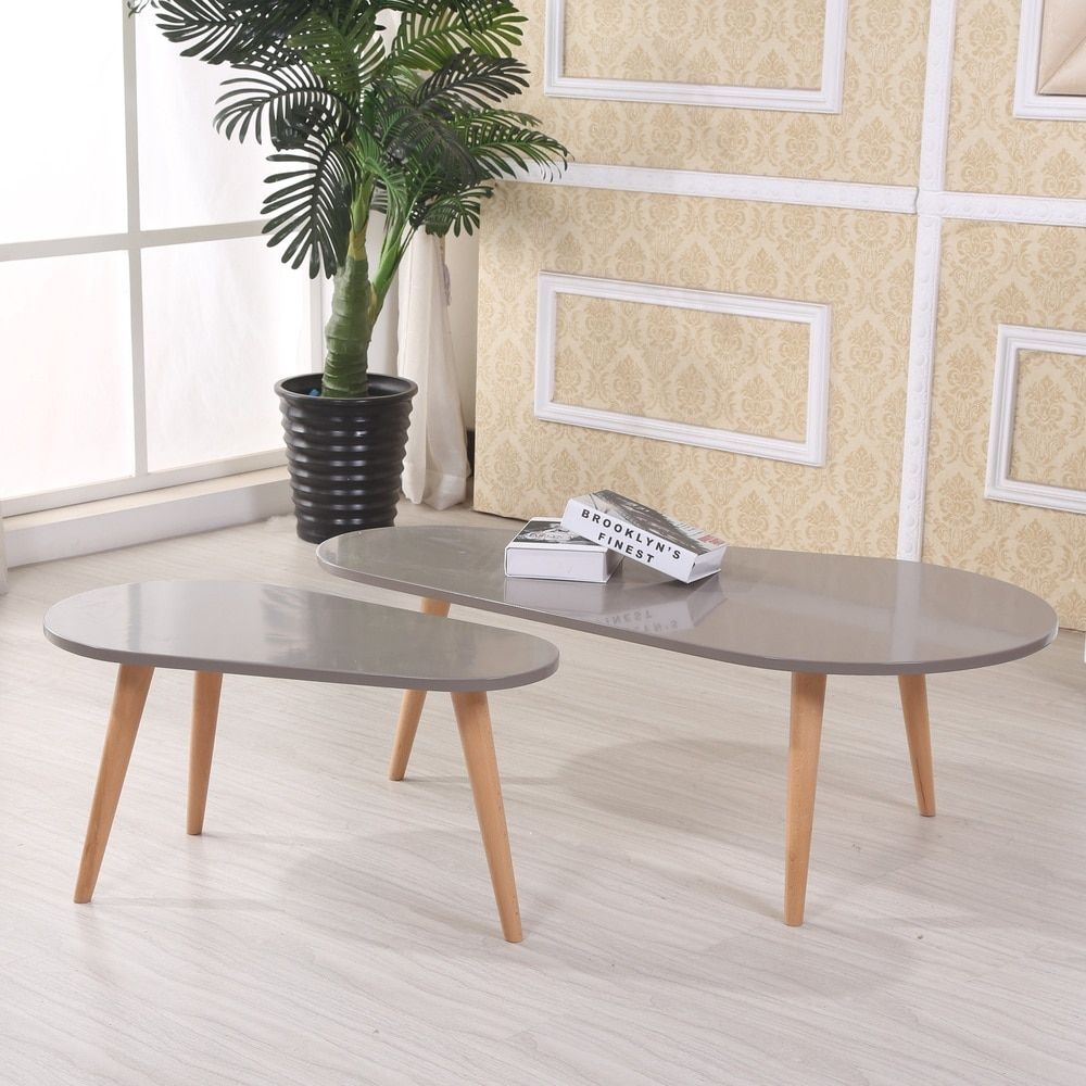 Best Palm Canyon Lawrence Free Form Wood 2 Piece Mid Century 400 x 300