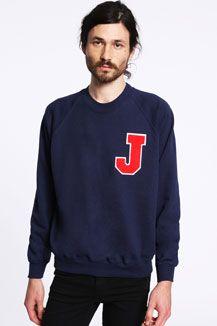 Vintage Customised J Letterman Sweatshirt