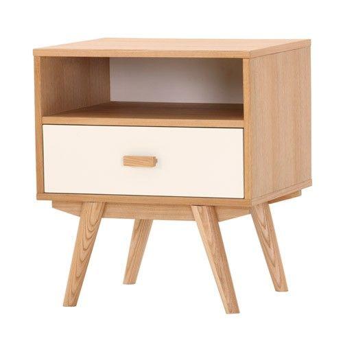 Sofia Bedside Table   1 Drawer 1 Shelf   Scandinavian Furniture 11% OFF |  $239.00