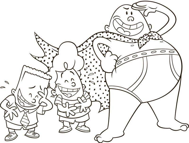 Captain Underpants Coloring Pages Free Coloring Sheets Captain Underpants Coloring Pages Cartoon Coloring Pages