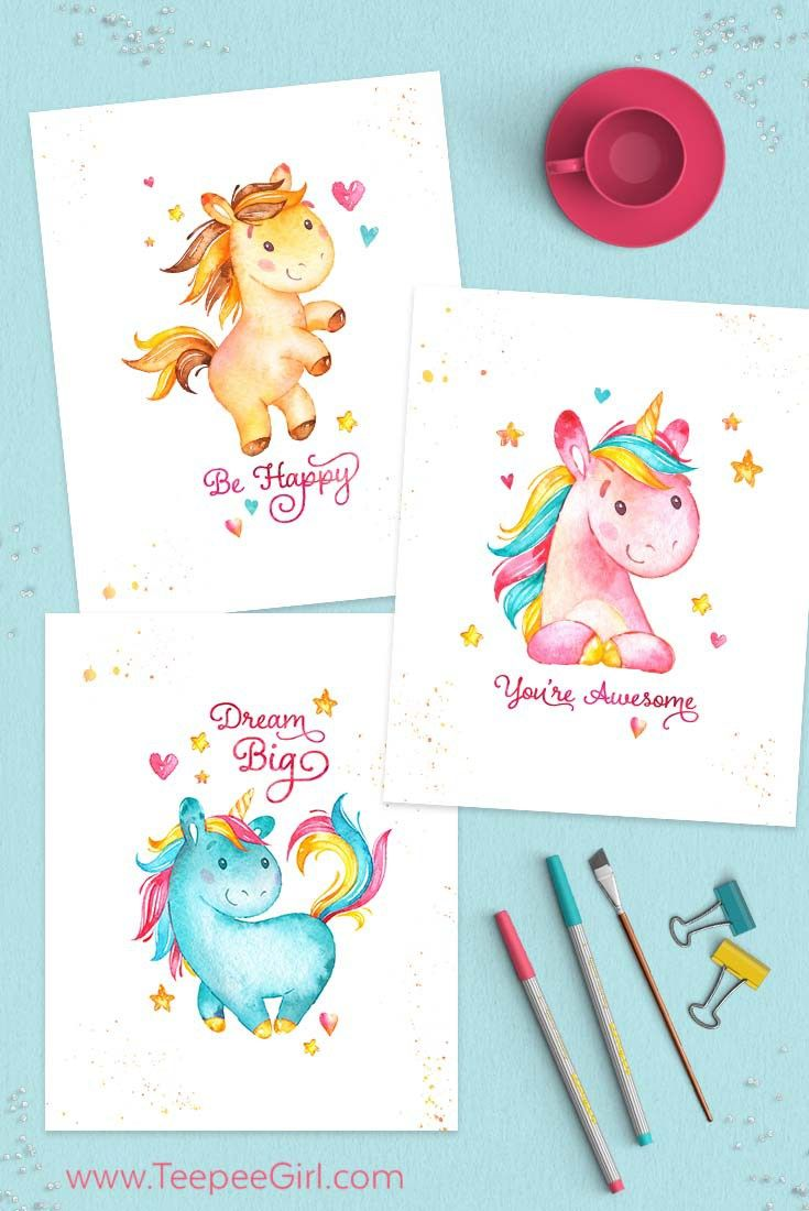 Grab These Free 8x10 Unicorn Printables At TeepeeGirl