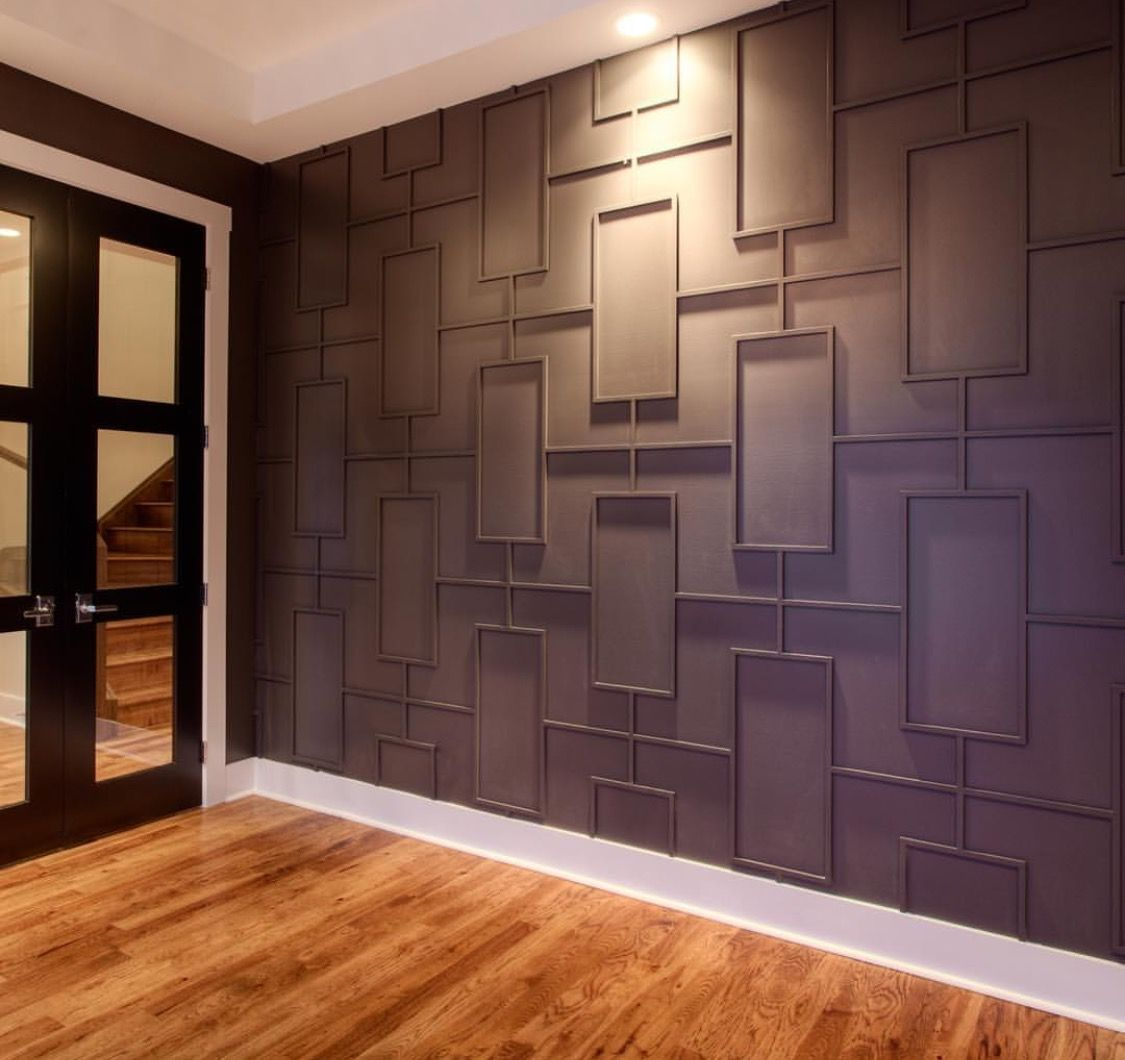 Close Up Of Molding Accent Wall: Accent Wall Of Dreams! #accentwall #geometricshapes