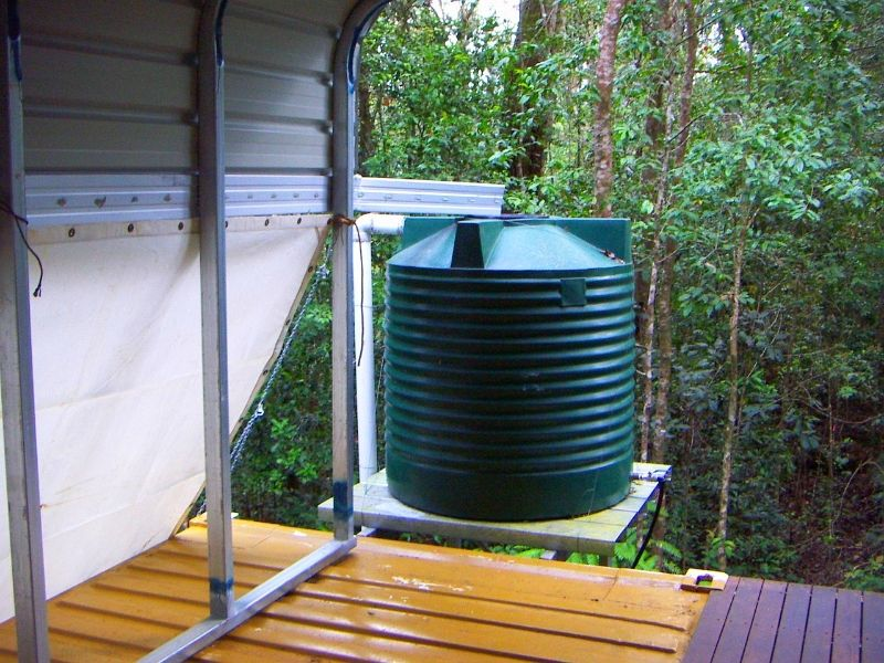Water Tank On Shipping Container House