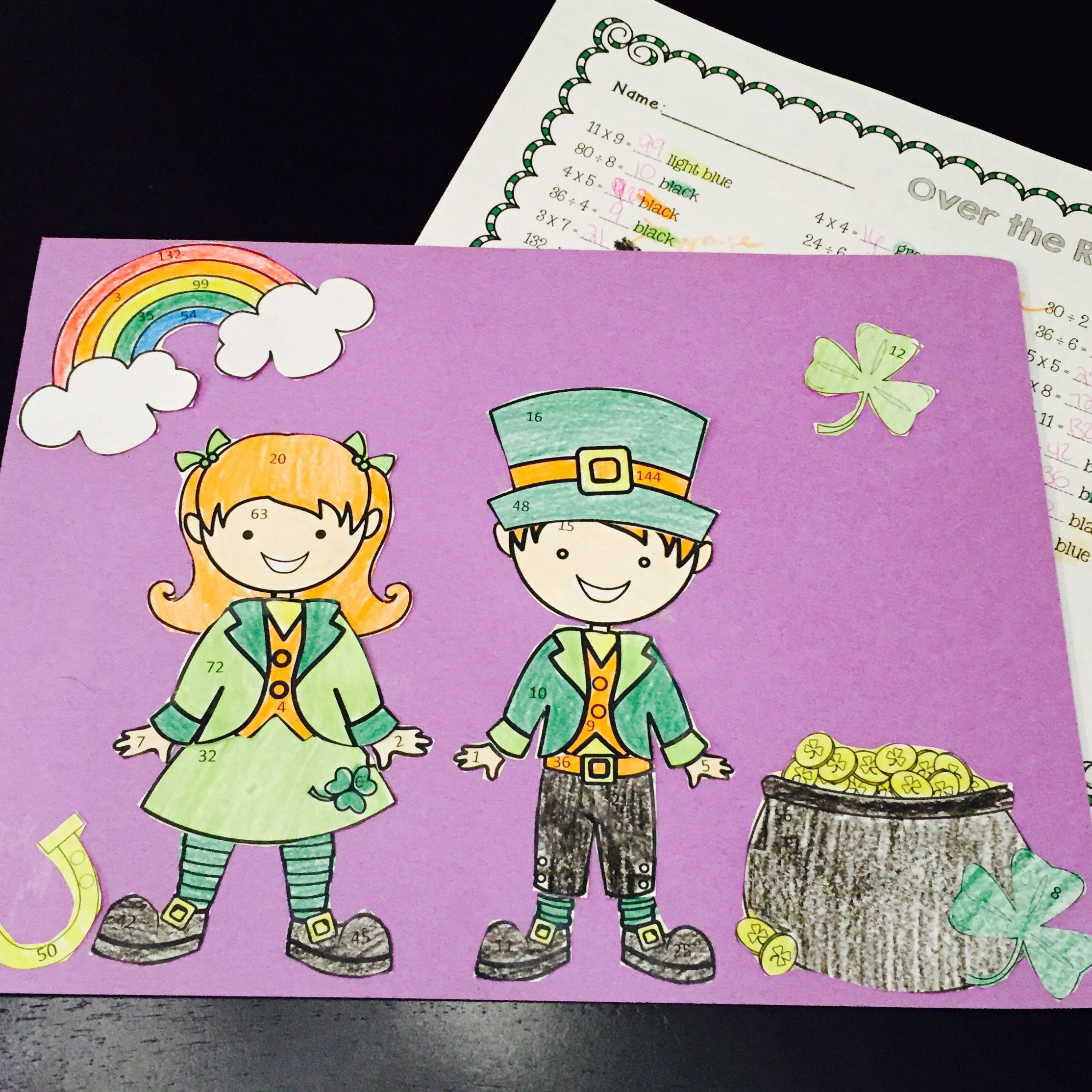 Leprechaun St Patrick S Day Math Craftivity