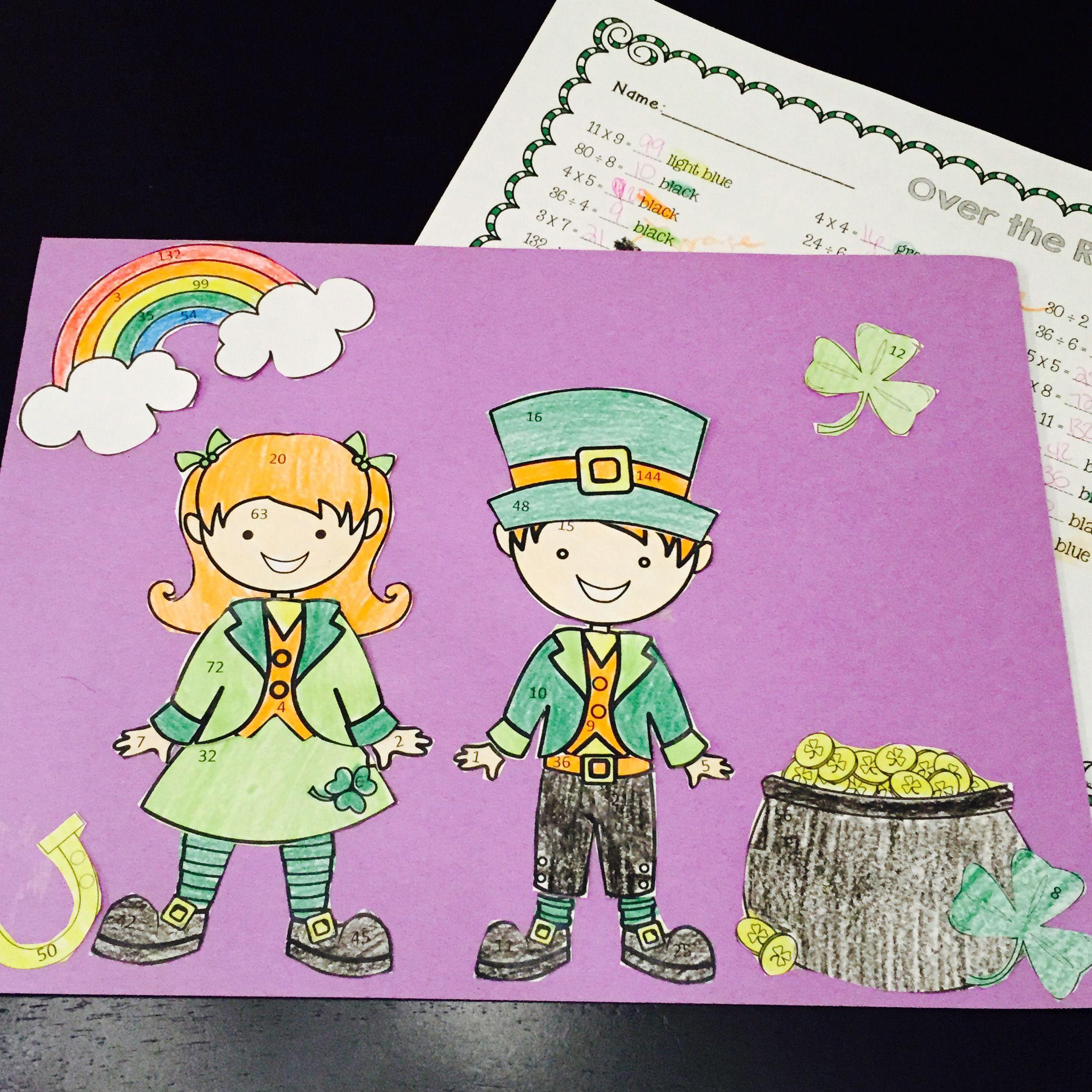 Leprechaun St Patrick S Day Math Craftivity