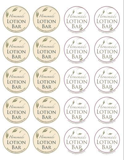 Free Printable Lotion Labels Lotion Bars Packaging Homemade Lotion Bars Diy Lotion