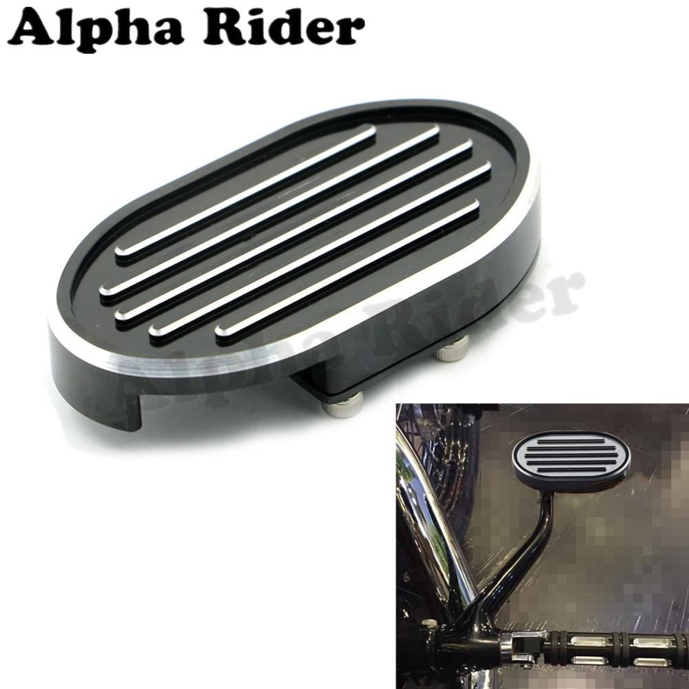 Grill CNC Billet Brake Pedal Pad Cover Footpeg for Harley Sportster XL883 XL1200 Dyna Fat Bob Softail V-Rod Street Night Rod