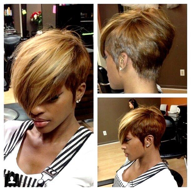 Quick Weave Short Hairstyles Enchanting Love The Colortoo Much Hair In Front For Me Though  Cute