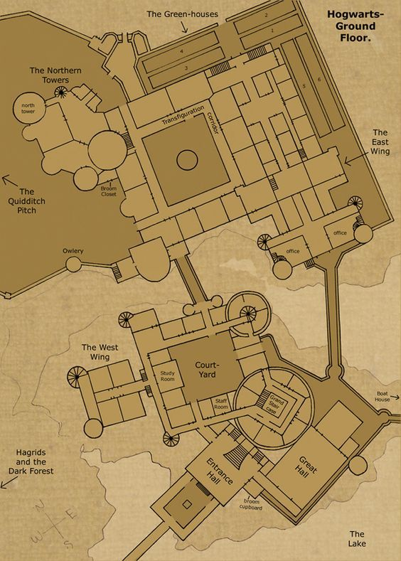 Theorized floor plan of hogwarts castle hogwarts ground floor by theorized floor plan of hogwarts castle hogwarts ground floor by hogwarts castle malvernweather Choice Image