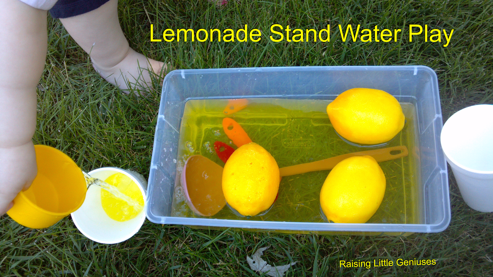 Lemonade Stand Water Play Perfect Outdoor Summer Activity