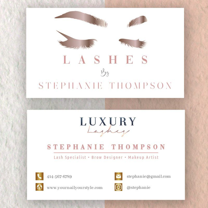 Eyelash Extensions Business Card Diy Lash Business Cards Makeup Business Cards Makeup Artist Business Cards Templates Artist Business Cards