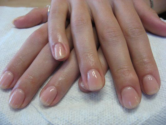Natural Looking Gel Nail Overlay