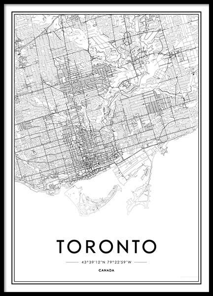 Toronto poster in the group posters prints sizes 50x70cm 197x27