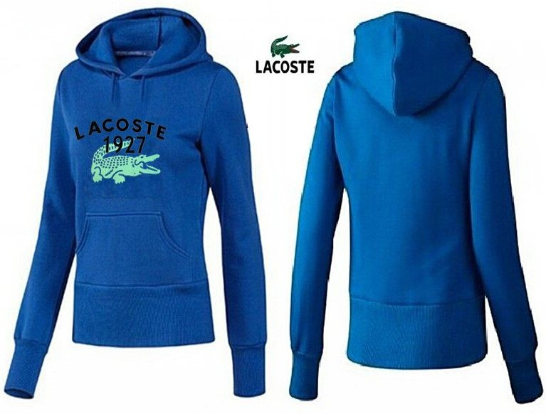 Lacoste polo women hoodies 1927 medium blue