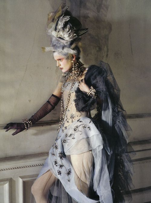 'Lady Grey' photographed by Tim Walker, Vogue Italia March 2010  Christian Dior Haute Couture by John Galliano Fall/Winter 2005-06<3