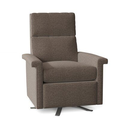 Fairfield Chair This recliner is activated by merely pushing on the arms of the reclining chair and it will simultaneously activate both the footrest and chair-back into a TV or reading position. Further pressure applied to the arms will move the chair into a fully reclined position. Body Fabric: 9177 Ecru, Leg Color: Brushed Nickel 2, Reclining Type: Power