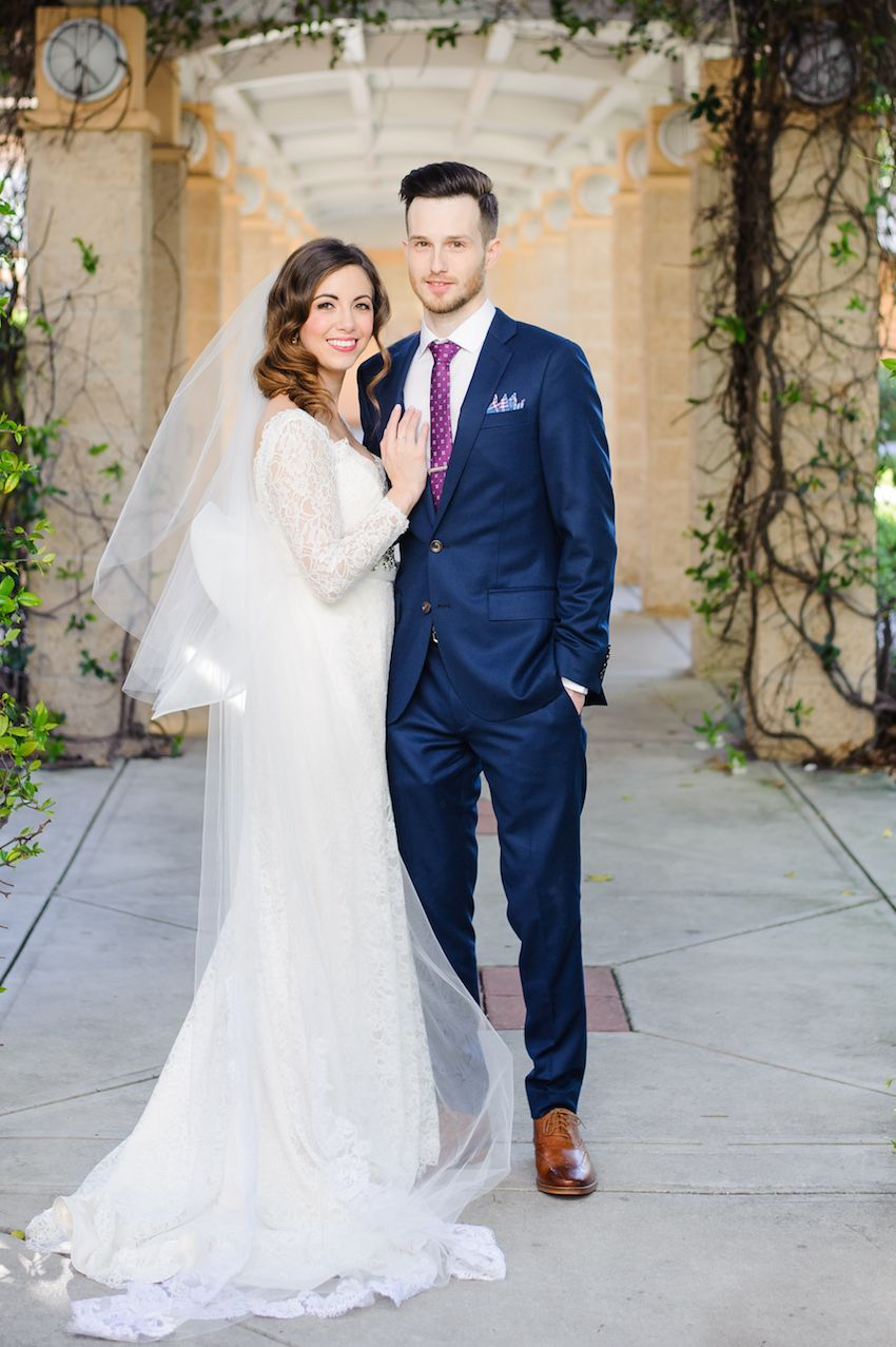 Florida wedding celebration with vibrant colors and wooden for What color shoes with navy dress for wedding