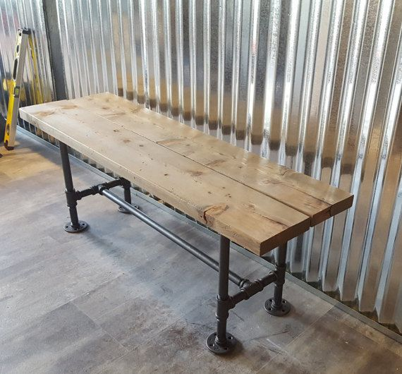 Industrial Pipe Bench Made From Real 3 4 Iron Pipe That
