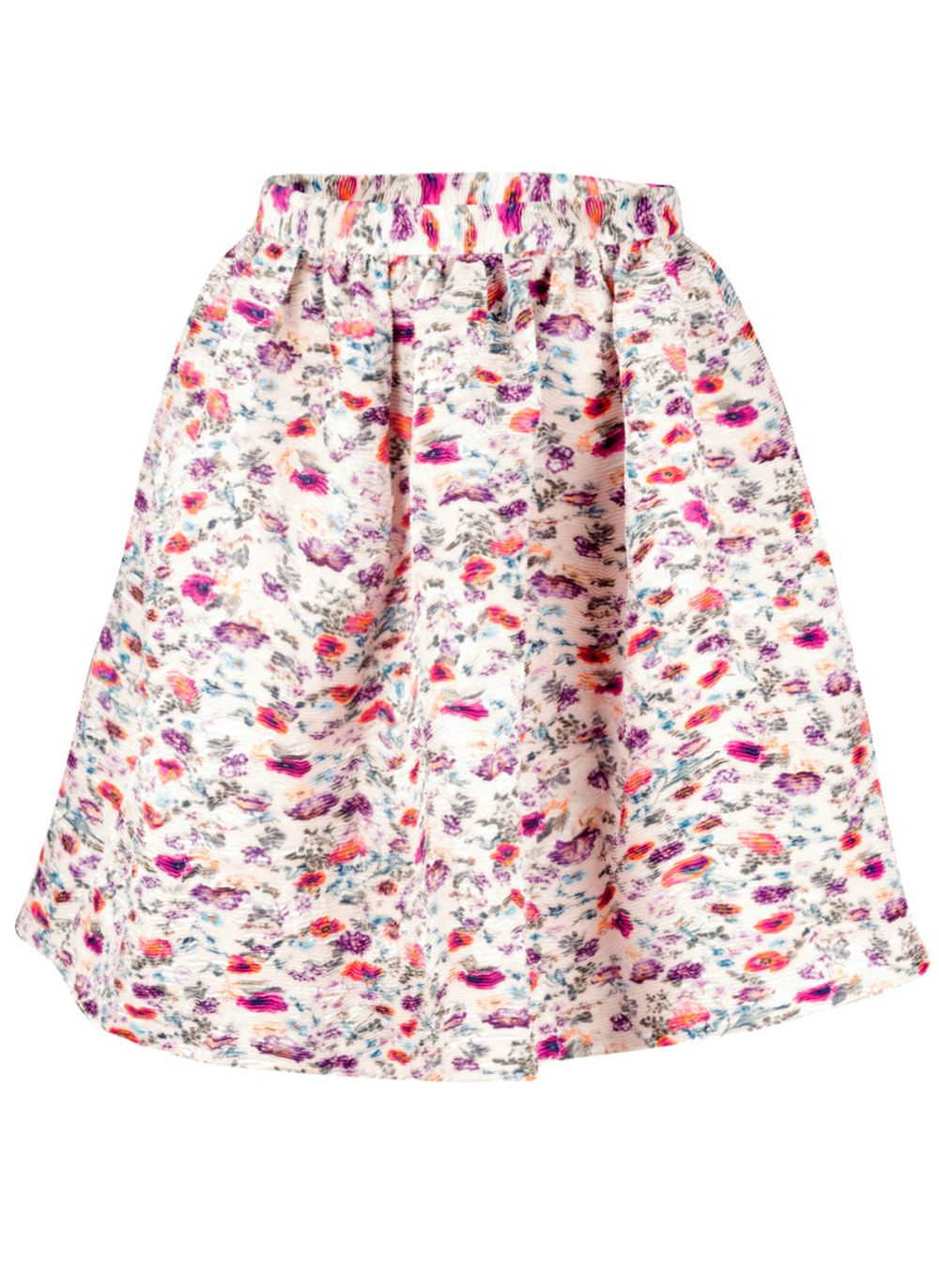 Crinkled Floral Skirt by: MSGM