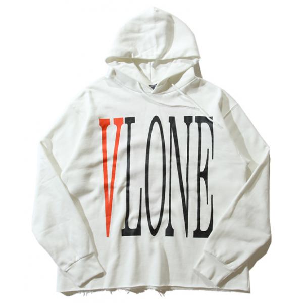 Vlone Classic Logo Hoodie! White! http//streetwearvilla