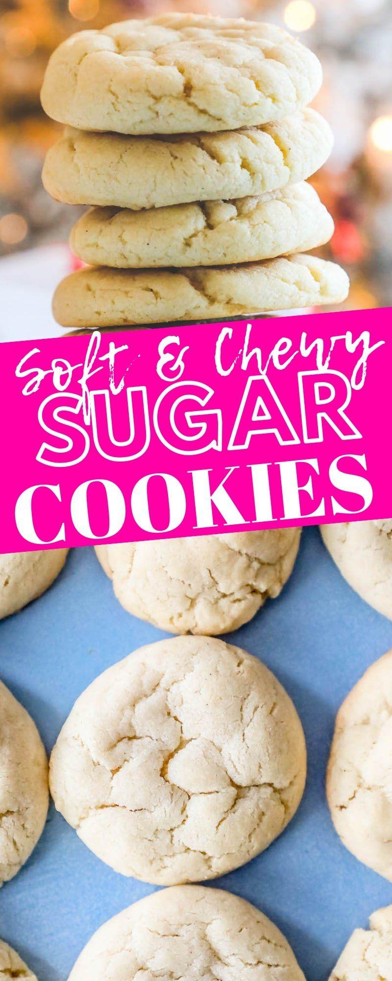 The Best Easy Chewy Sugar Cookies Ever Recipe - Sweet Cs Designs #cinnamonsugarcookies