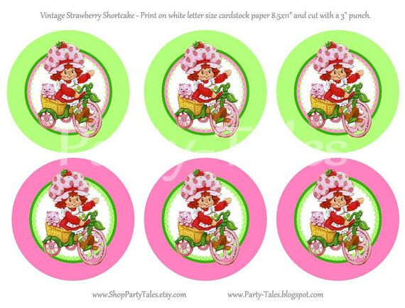 Birthday Girl Parties Items Similar To INSTANT Download STRAWBERRY SHORTCAKE Doll