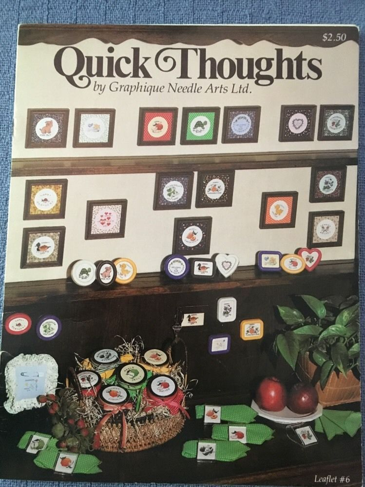 Quick Thoughts Graphique Needle Arts Cross Stitch Patterns Preserves | eBay