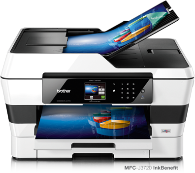 Printer Inject A3 Multifungsi Print,scan, copy, fax up to
