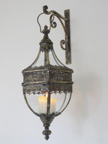 Beautiful Large Lantern With Bracket Inspired By The Gorgeous Interiors Of Morocco This Large Lantern Would Look Fa Wall Lantern Large Lanterns Silver Walls