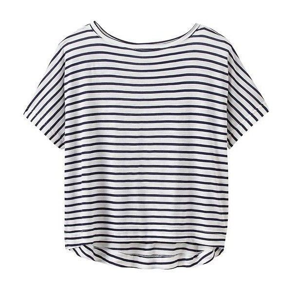 Athleta Women Stripe Crop Tee Size M (31 AUD) ❤ liked on Polyvore ...