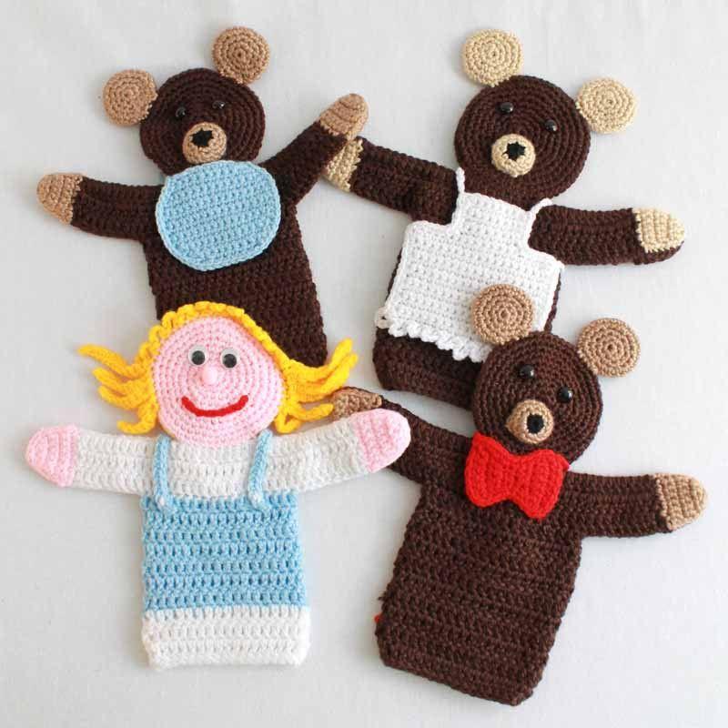 Storybook Puppets: Goldilocks and the 3 Bears Crochet Pattern ...