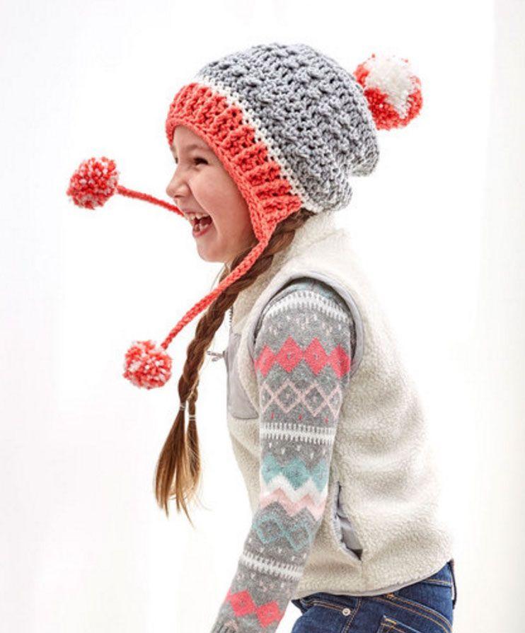 Free Crochet Pattern: Little Miss Pompom Hat | Gorros, Gorro tejido ...