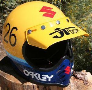 Marty Smith Vintage Helmet Suzuki Bikes Motocross Bikes