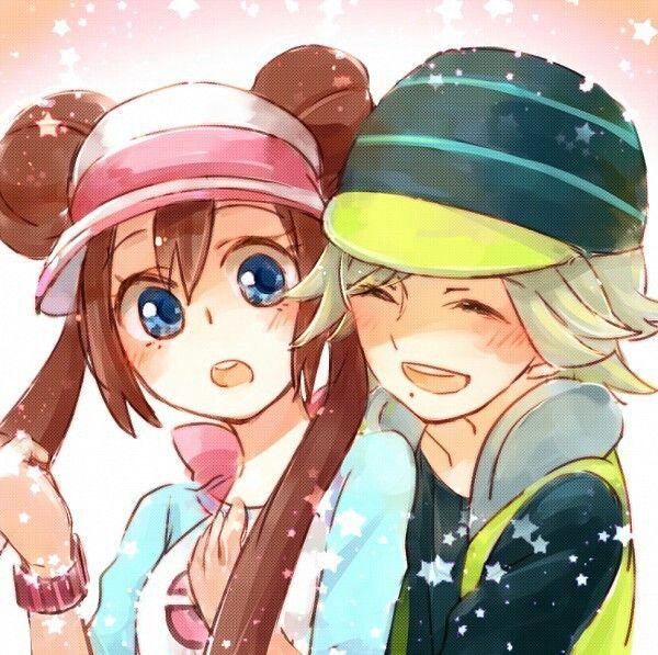 Anime Couple Surprise Hug Girl Brown Hair Blue Eyes Blonde