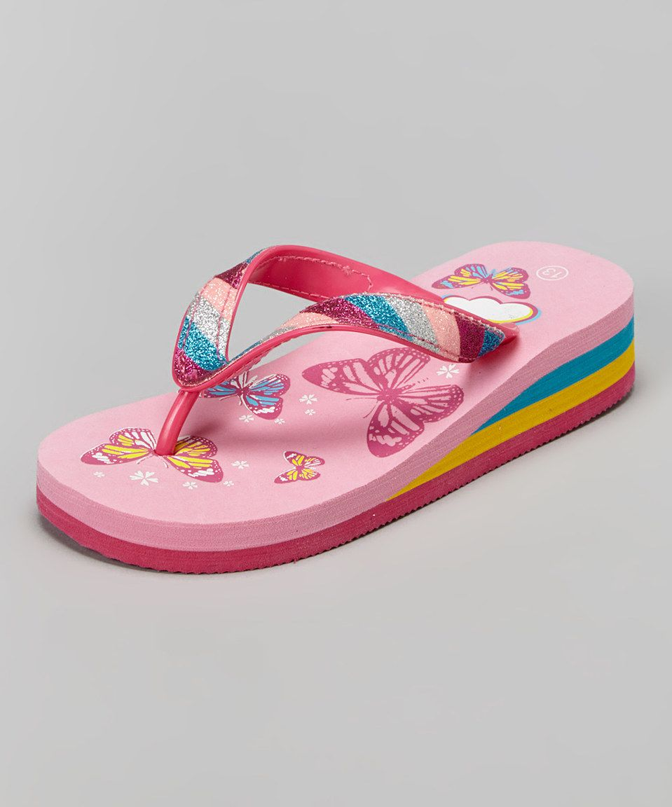Another great find on #zulily! Laura Ashley Pink Butterfly Flip-Flop by Laura Ashley #zulilyfinds
