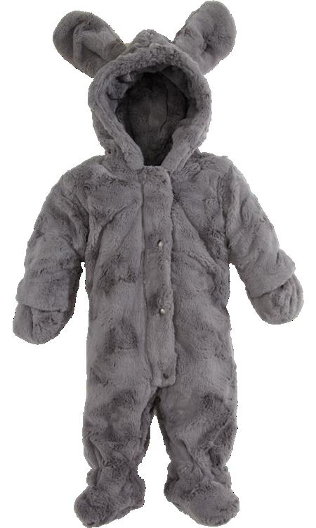 Faux Fur Snowsuit with Ears