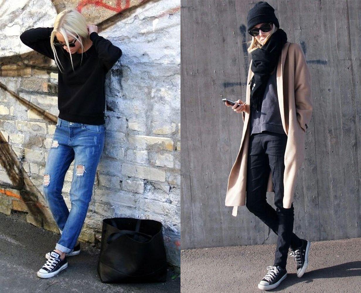 Comment porter des converse noires 10 looks de blogueuses copier - Tenue avec basket ...