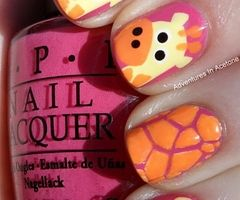 Omg favorite thing ever my favorite colors and favorite animal!!!!! I want those nails pronto!!!!!!!