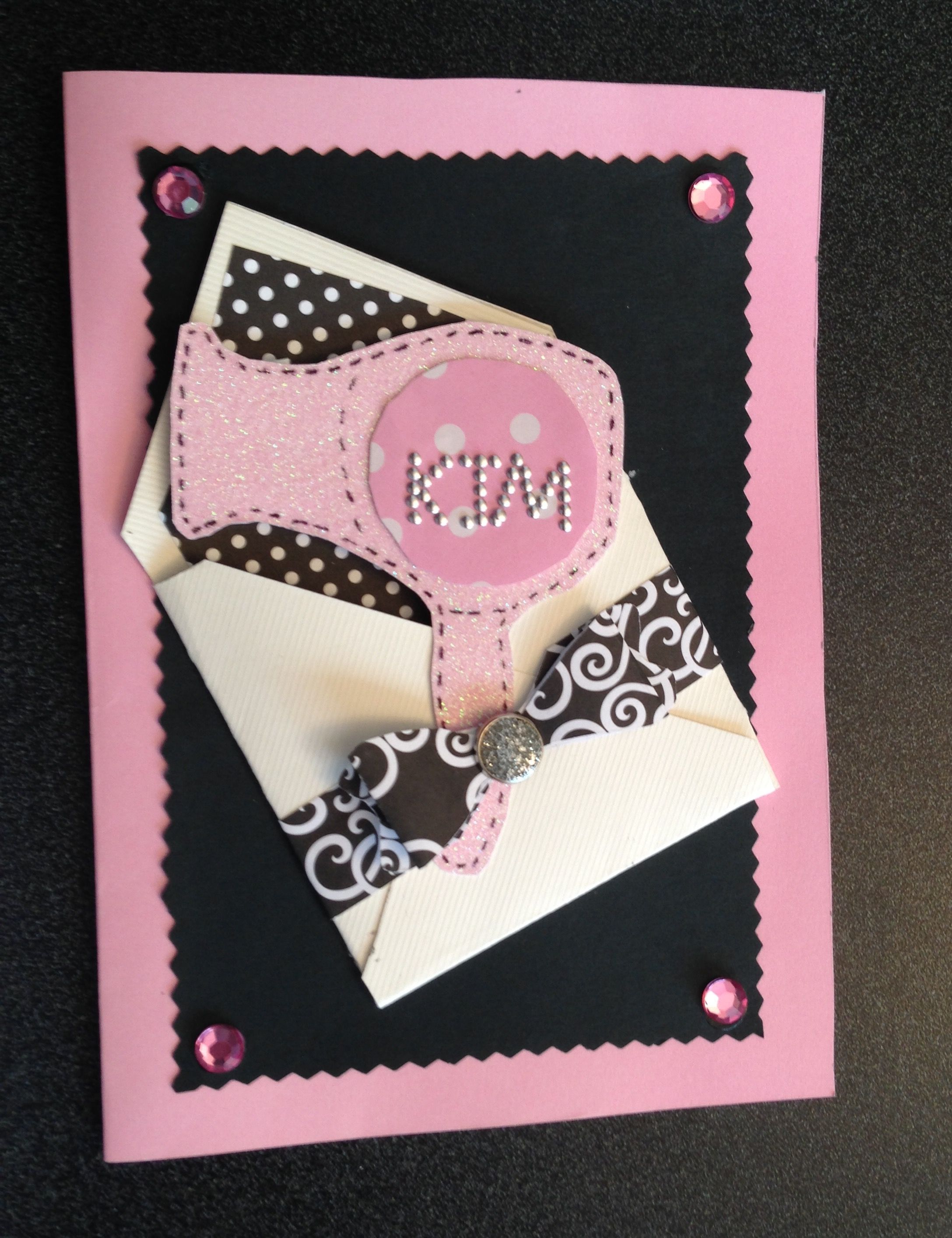 Custom birthday card for a favorite hairdresser it has an envelope custom birthday card for a favorite hairdresser it has an envelope with a blowdryer bookmarktalkfo Images
