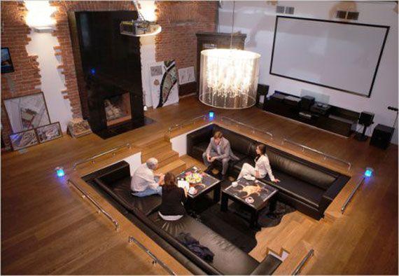 Best Sunken Living Room Designs (41 Conversation Pits) Part 68