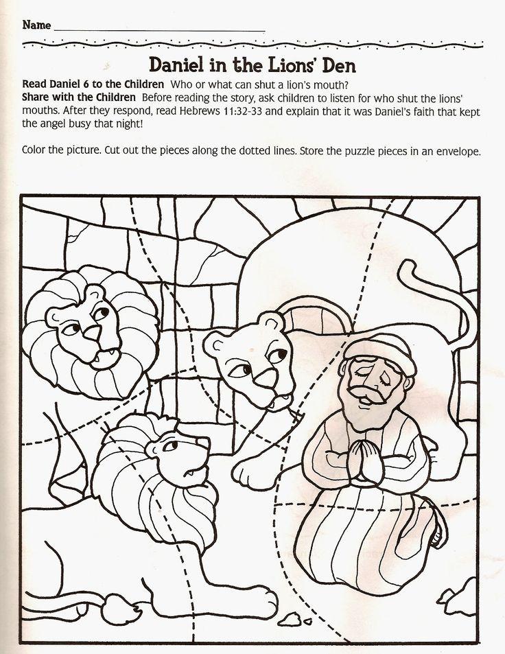 Daniel in de leeuwenkuil: | hittan | Pinterest | Sunday school ...
