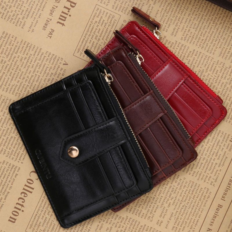 Fashion Leather Wallet Button Long Purse Lady Women/'s Handbag Animal Letter
